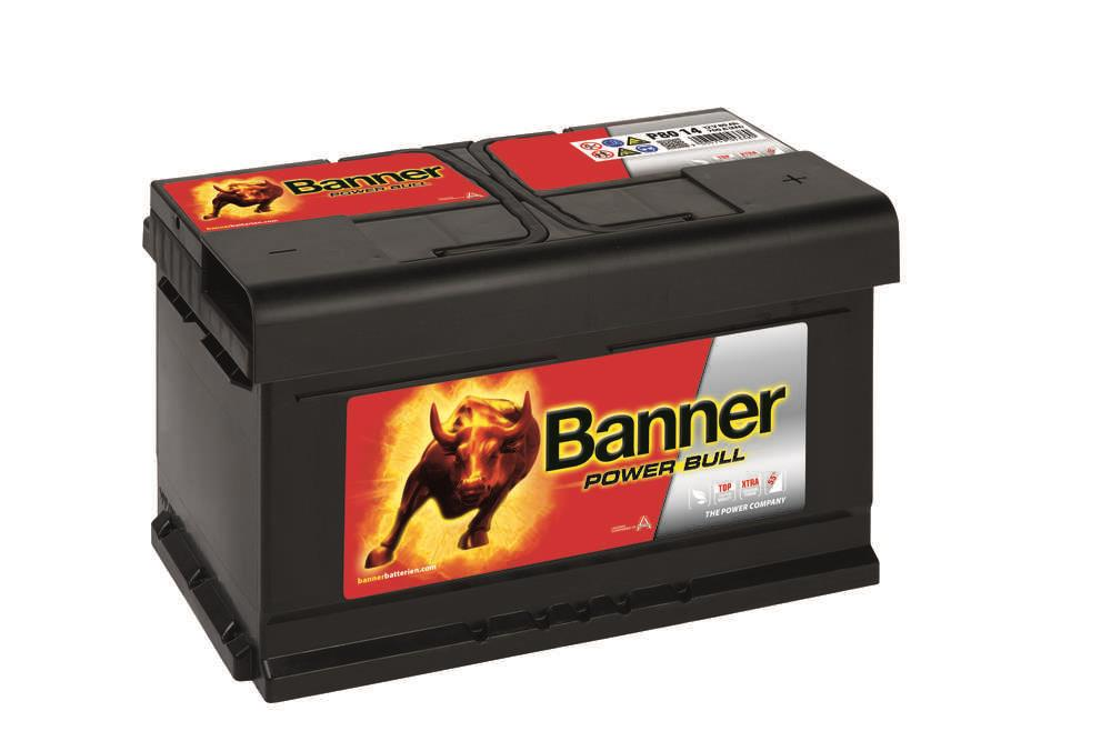 Autobaterie Banner Power Bull    12V 80Ah 700A P80 14